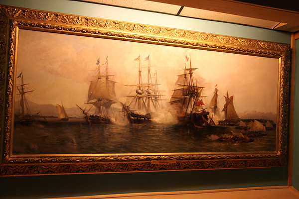 Battle of Lake Champlain by Julian O. Davidson 1853-1894. Original.  Considered to be the most accurate depiction of the battle.