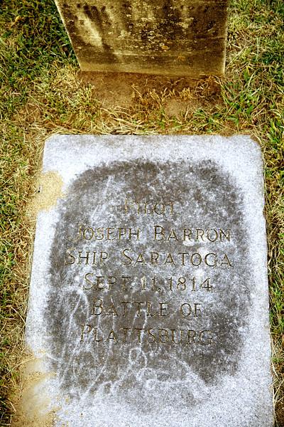 Pilot Joseph Barron. Ship Saratoga. Sept. 11, 1814. Battle of Plattsburgh