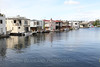 Floating homes on Lake Union