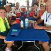 """Rick, Janell, Rich, MaryAnne, Casey and I at the """"Beer Garden""""."""
