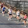 4.3 Mile: Joan Sameulson, upper right, in yellow, runs strong