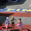 The US Women's Marathon Olympians celebrate.