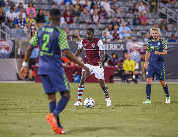The 2017 Lamar Hunt U.S. Open Cup game between the Colorado Rapids (MLS) and the Oklahoma City Energy FC of the United Soccer League (USL) at Dick's Sporting Goods Park in Commerce City, Colorado.   Final score of the game was the Colorado Rapids - 3 and Oklahoma City Energy FC - 2.