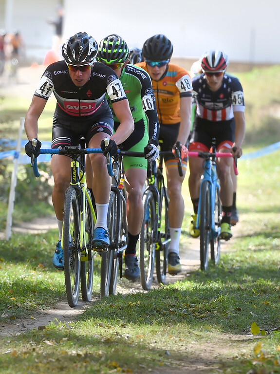. Maxx Chance leads this lap of the U23 men. U.S. Open of Cyclocross returned to Valmont Bike Park in Boulder on Saturday. Events were provided for both top-level professional and amateur cyclists, including internationally-sanctioned events for Junior Men (17-18) and Under-23 Men.  For more photos, go to dailycamera.com. Cliff Grassmick  Staff Photographer October 14, 2017