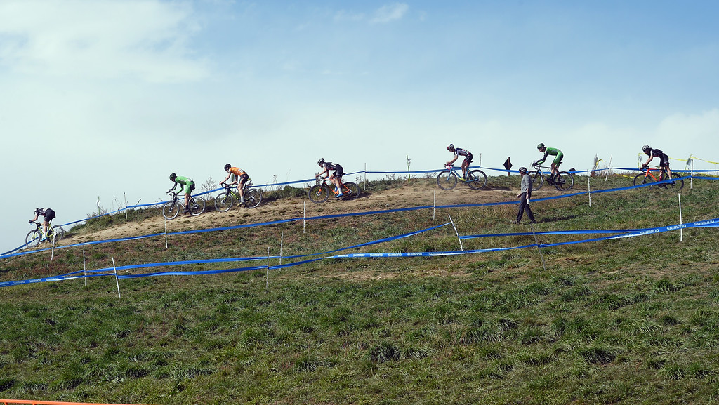 . Racers in the U23 Men take on the hills on Saturday. U.S. Open of Cyclocross returned to Valmont Bike Park in Boulder on Saturday. Events were provided for both top-level professional and amateur cyclists, including internationally-sanctioned events for Junior Men (17-18) and Under-23 Men.  For more photos, go to dailycamera.com. Cliff Grassmick  Staff Photographer October 14, 2017