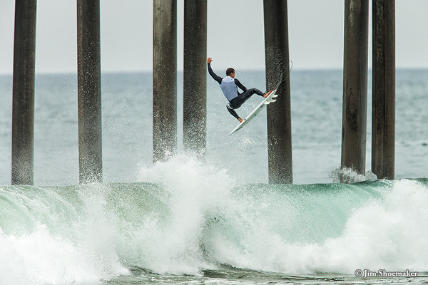 Pre-event surfing, 2012 Hurley US Open of Surfing, Huntington Beach