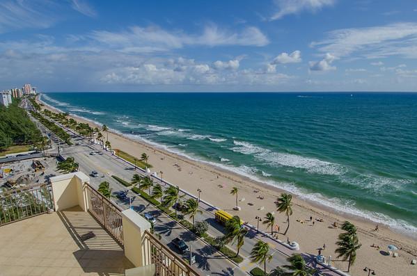 Balcony ocean view at the Atlantic Hotel & Spa, Fort Lauderdale, Florida