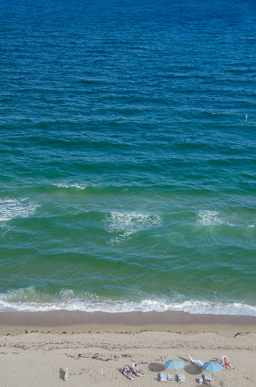 Beautiful blue sea | View from the Atlantic Hotel & Spa, Fort Lauderdale, Florida