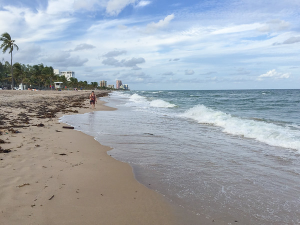 The beach across the street from the Atlantic Hotel & Spa, Fort Lauderdale, Florida.