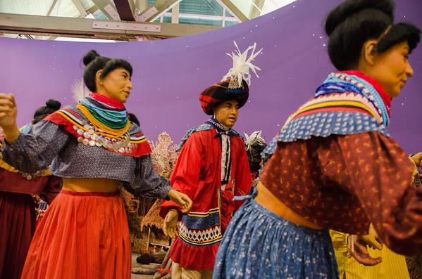Traditional dance of the Seminole Tribe of Florida. The Ah-Tah-Thi-Ki Museum, Florida