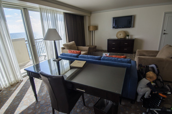 Inside the oceanview Queen Suite at the Atlantic Hotel & Spa, Fort Lauderdale, Florida