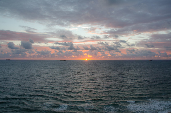 Sunrise over the Atlantic | View from the Atlantic Hotel Fort Lauderdale, Florida