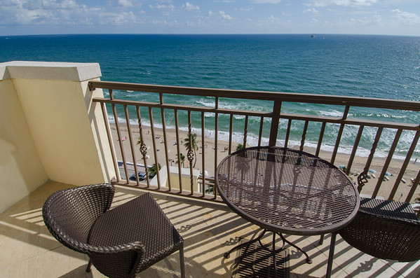 Balcony ocean view at the Atlantic Hotel & Spa, Fort Lauderdale, Florida