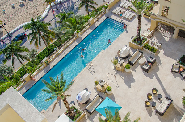 The pool at the Atlantic Hotel, Fort Lauderdale, Florida