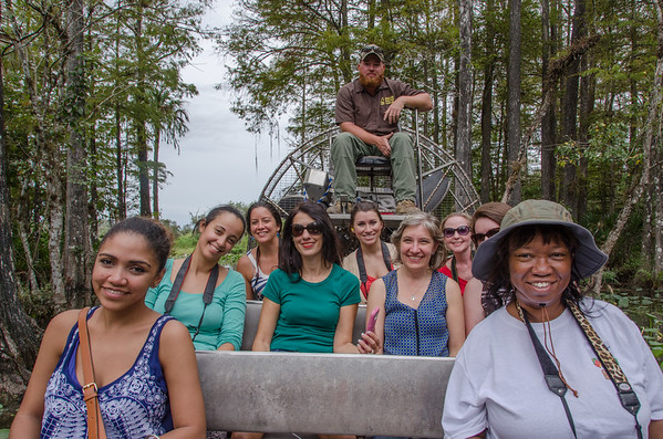 On an airboat tour of the Everglades, Billie Swamp Safari, Big Cypress Reservation