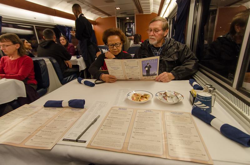 Communal seating over dinner: Riding the Amtrak Coast Starlight