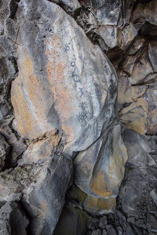 Symbol Bridge, ancient rock art at Lava Beds National Monument, Tulelake, CA