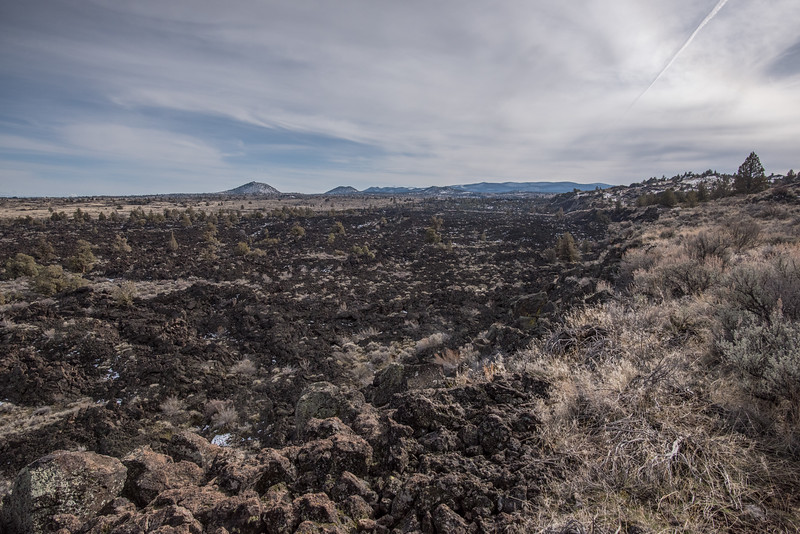 Volcanic rock outcrops near Lava Bed National Monument