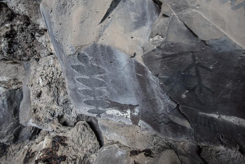 Symbol Bridge, ancient rock art at Lava Beds National Monument, near Klamath Falls, OR