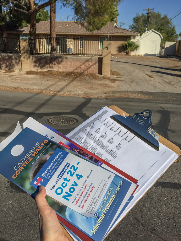 Door knocking for Hillary Clinton in Las Vegas, NV