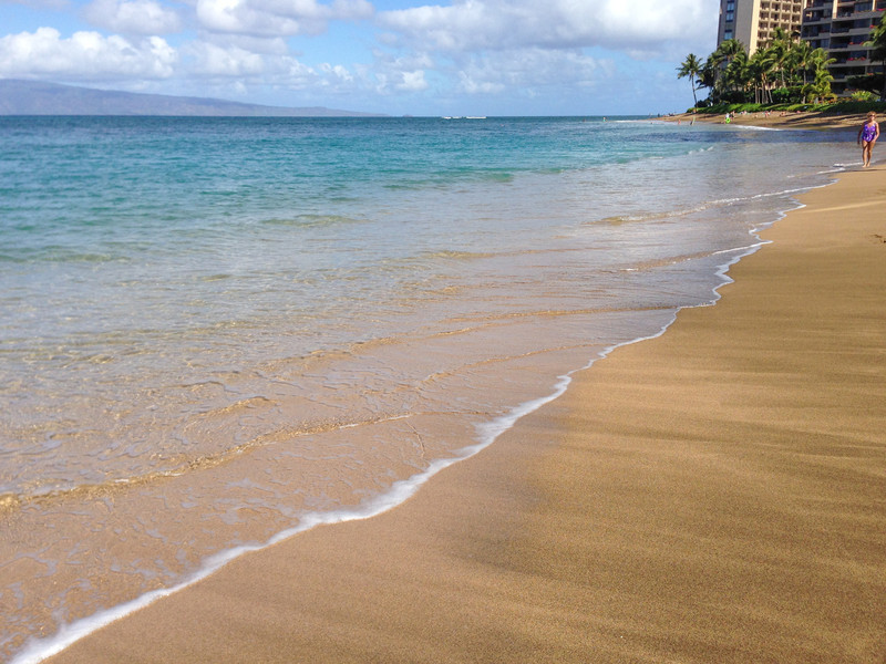 Sandy beaches near Kahana, Maui