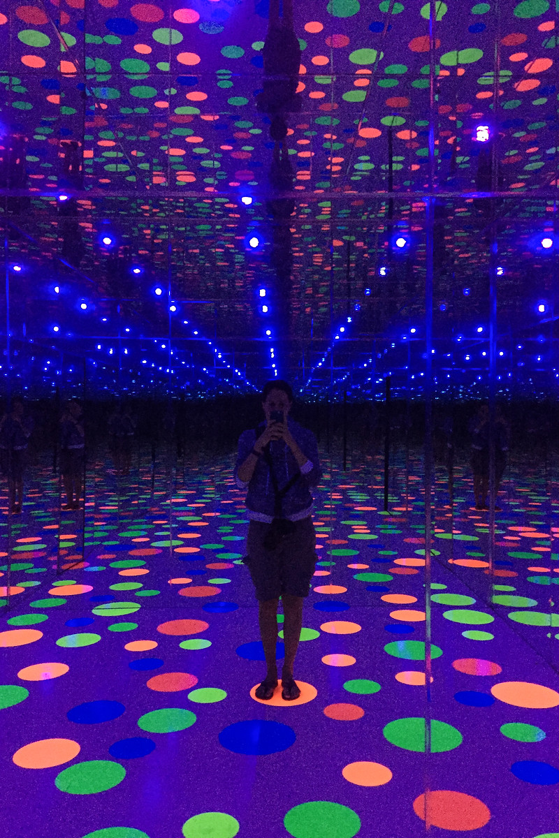 "Yayoi Kusama's ""Infinity Mirrored Room"", at the Mattress Factory in Pittsburgh"