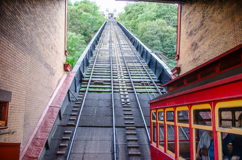 Riding the Duquesne Incline in Pittsburgh