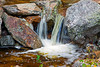 Lower Silver Cascade Falls in Crawford Notch State Park, New Hampshire