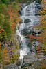 Silver Cascade Falls in Crawford Notch in White Mountains, New Hampshire