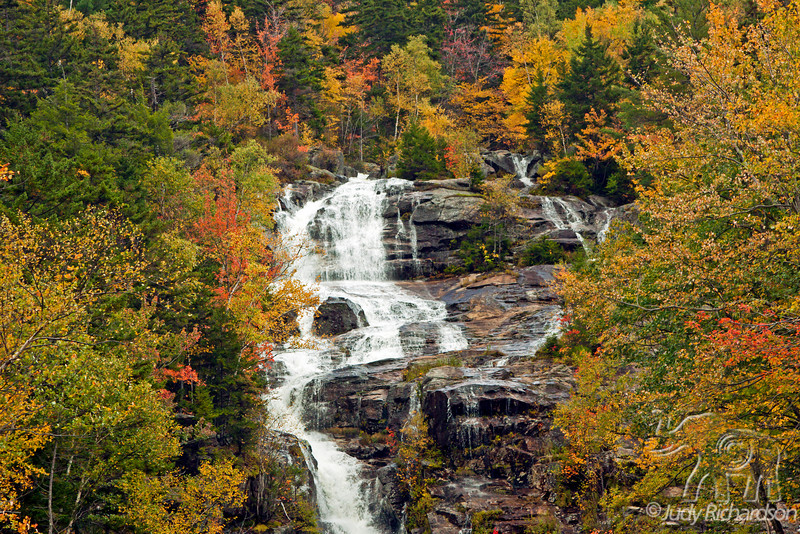 Upper Silver Cascade Falls in Crawford Notch State Park, New Hampshire