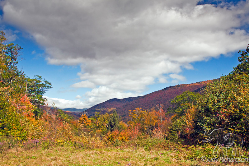 Colorful scenery in White Mountains, New Hampshire