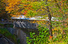 Flume Gorge covered bridge in Franconia Notch over a deep pool