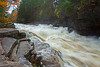 Rushing Lower Ammonoosuc Falls after a torrential downpour