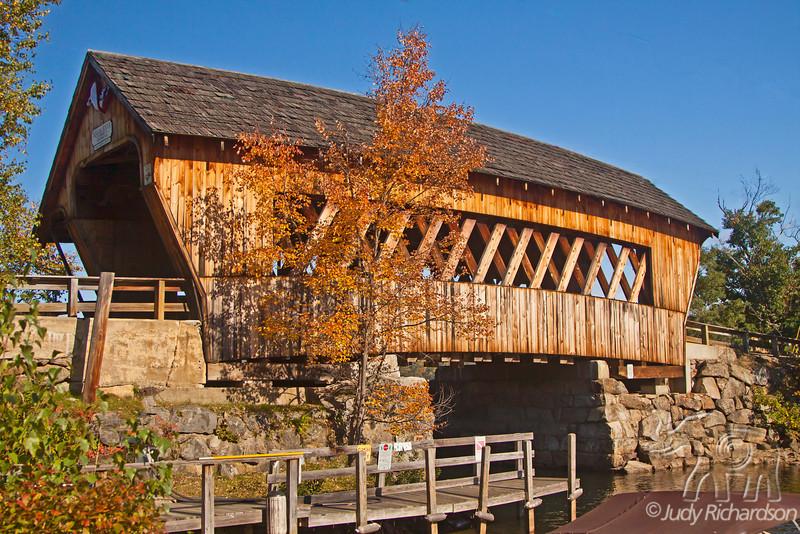 Squam River covered bridge in Ashland, New Hampshire ~ it was rebuilt in 1990