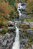 Silver Cascade waterfall in Crawford Notch in White Mountains of New Hampshire