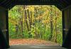 Turkey Jim's covered bridge entrance in Campton, New Hampshire
