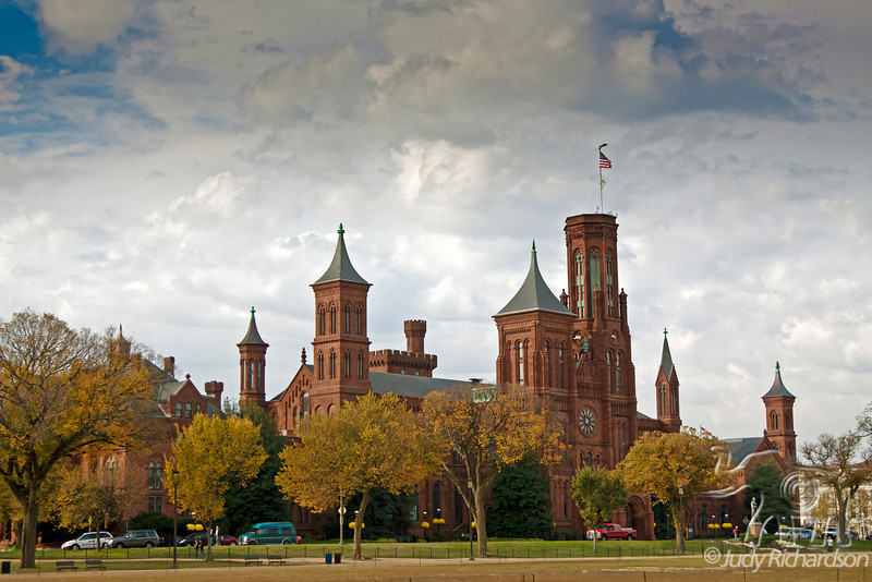 Smithsonian Castle from the National Mall ~ Now a visitor's center with spectacular gardens and reflecting pool