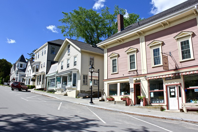 Main St. in Castine, Maine