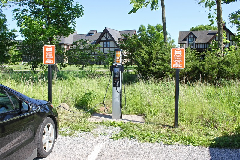 electric vehicle charging station at Duke Farms in Somerset County, New Jersey