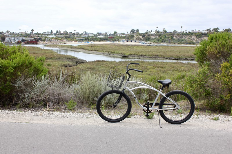biking at the Upper Newport Bay Ecological Reserve