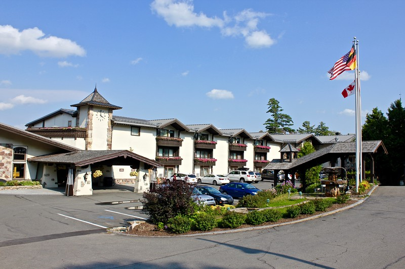 the exterior of Golden Arrow Lakeside Resort in Lake Placid, New York