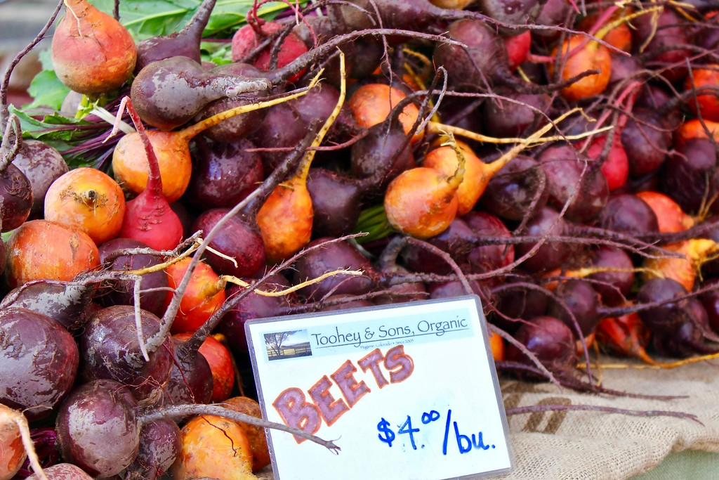 beets at Boulder County Farmers Market in Boulder Colorado