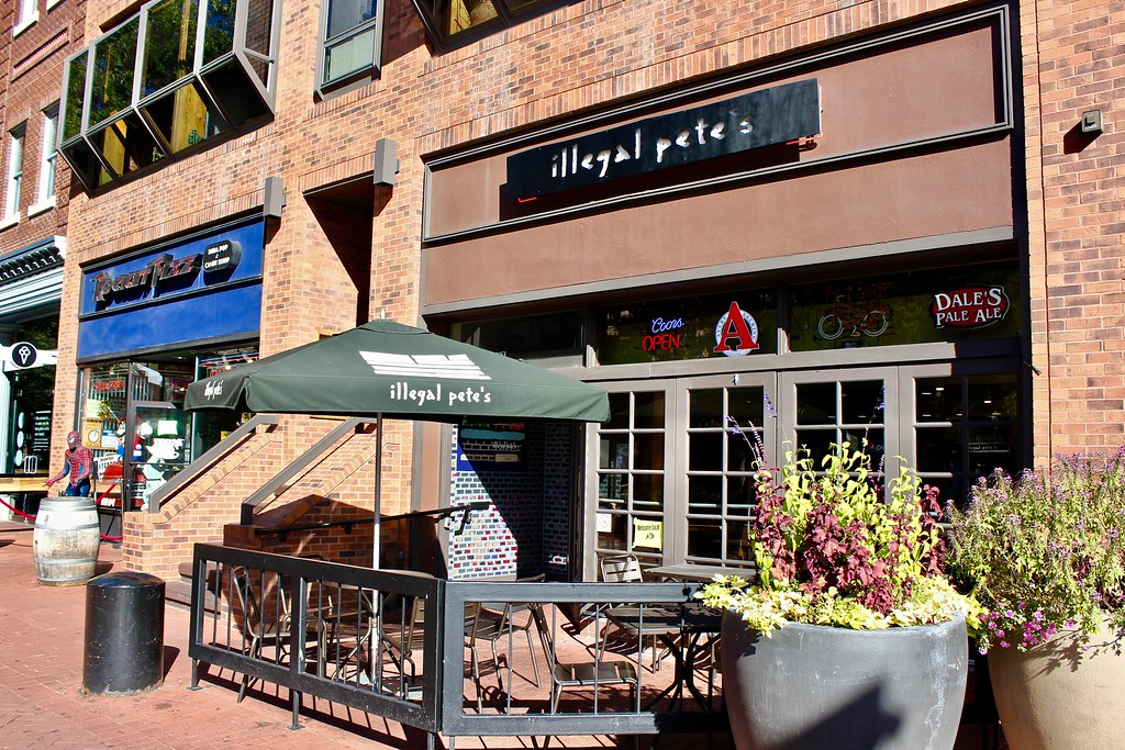 Illegal Pete's restaurant on Pearl St. in Boulder Colorado