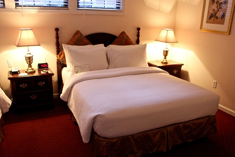 Residential Suite bedroom at the Hotel Northampton in Northampton, Massachusetts