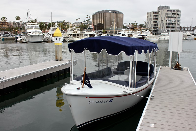 Duffy Boat on Newport Bay in Newport Beach, California