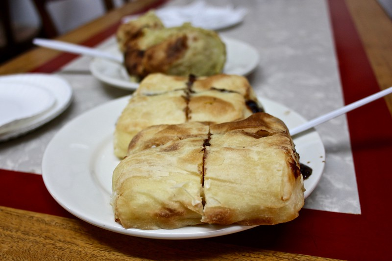 knishes at Yonah Schimmel's Knish Bakery in New York City