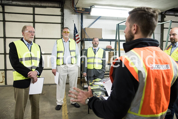 U.S. Rep. Dave Loebsack visits Logisticus in Camanche