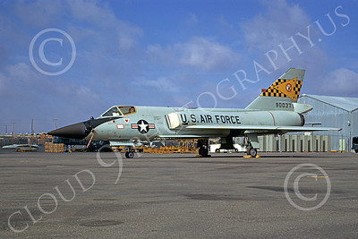 F-106AUSAF 00137 A static Convair F-106A Delta Dart USAF 90037 27th FIS FIGHTING FALCONS 12-1970 McClelland AFB military airplane picture by Peter B Lewis