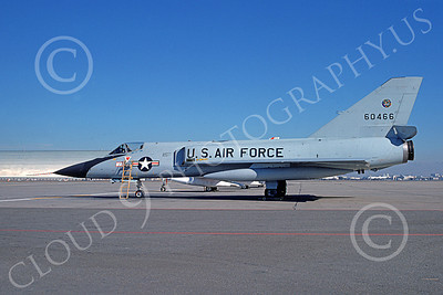 F-106AUSAF 00087 A static Convair F-106A Delta Dart USAF 60466 318th FIS GREEN DRAGONS NAS Moffett 12-1974 military airplane picture by Michael Grove, Sr