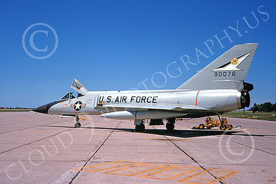 F-106AUSAF 00133 A static Convair F-106A Delta Dart USAF 90076 438th FIS DONAL DUCK 9-1968 military airplane picture by Dougals D Olson